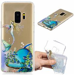 Mermaid Clear Varnish Soft Phone Back Cover for Samsung Galaxy S9