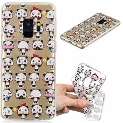 Mini Panda Clear Varnish Soft Phone Back Cover for Samsung Galaxy S9