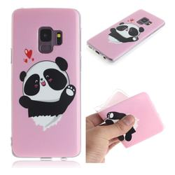 Heart Cat IMD Soft TPU Cell Phone Back Cover for Samsung Galaxy S9