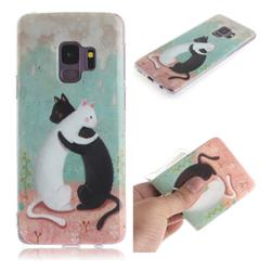 Black and White Cat IMD Soft TPU Cell Phone Back Cover for Samsung Galaxy S9