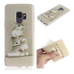 Three Squirrels IMD Soft TPU Cell Phone Back Cover for Samsung Galaxy S9