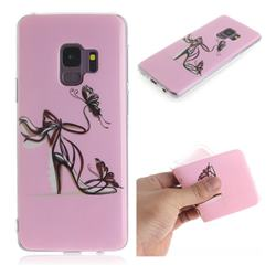 Butterfly High Heels IMD Soft TPU Cell Phone Back Cover for Samsung Galaxy S9