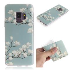 Magnolia Flower IMD Soft TPU Cell Phone Back Cover for Samsung Galaxy S9