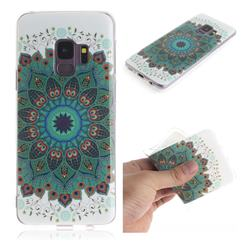 Peacock Mandala IMD Soft TPU Cell Phone Back Cover for Samsung Galaxy S9