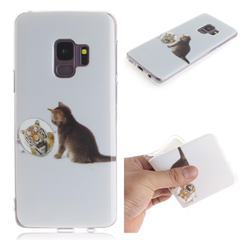 Cat and Tiger IMD Soft TPU Cell Phone Back Cover for Samsung Galaxy S9