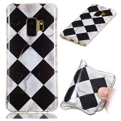Black and White Matching Soft TPU Marble Pattern Phone Case for Samsung Galaxy S9