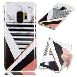 Pinstripe Soft TPU Marble Pattern Phone Case for Samsung Galaxy S9