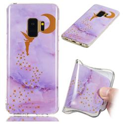 Elf Purple Soft TPU Marble Pattern Phone Case for Samsung Galaxy S9