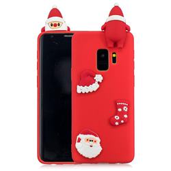 Red Santa Claus Christmas Xmax Soft 3D Silicone Case for Samsung Galaxy S9