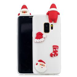 White Santa Claus Christmas Xmax Soft 3D Silicone Case for Samsung Galaxy S9