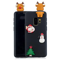 Black Elk Christmas Xmax Soft 3D Silicone Case for Samsung Galaxy S9
