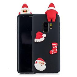 Black Santa Claus Christmas Xmax Soft 3D Silicone Case for Samsung Galaxy S9