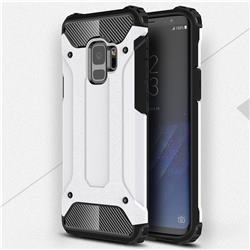 King Kong Armor Premium Shockproof Dual Layer Rugged Hard Cover for Samsung Galaxy S9 - White