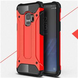 King Kong Armor Premium Shockproof Dual Layer Rugged Hard Cover for Samsung Galaxy S9 - Big Red