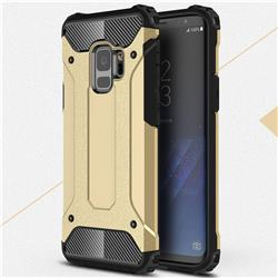 King Kong Armor Premium Shockproof Dual Layer Rugged Hard Cover for Samsung Galaxy S9 - Champagne Gold