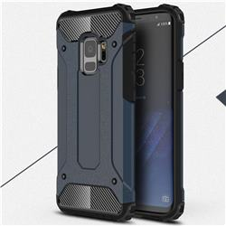 King Kong Armor Premium Shockproof Dual Layer Rugged Hard Cover for Samsung Galaxy S9 - Navy