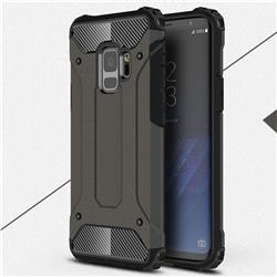King Kong Armor Premium Shockproof Dual Layer Rugged Hard Cover for Samsung Galaxy S9 - Bronze