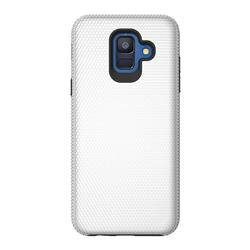 Triangle Texture Shockproof Hybrid Rugged Armor Defender Phone Case for Samsung Galaxy S9 - Silver