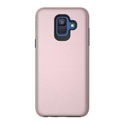 Triangle Texture Shockproof Hybrid Rugged Armor Defender Phone Case for Samsung Galaxy S9 - Rose Gold