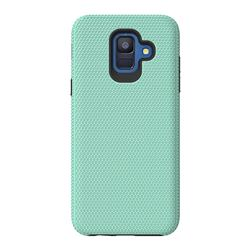 Triangle Texture Shockproof Hybrid Rugged Armor Defender Phone Case for Samsung Galaxy S9 - Mint Green