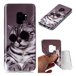 Kitten with Sunglasses Soft TPU Cell Phone Back Cover for Samsung Galaxy S9