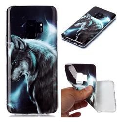 Fierce Wolf Soft TPU Cell Phone Back Cover for Samsung Galaxy S9