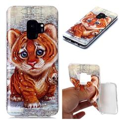 Cute Tiger Baby Soft TPU Cell Phone Back Cover for Samsung Galaxy S9