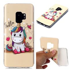 Hello Unicorn Soft TPU Cell Phone Back Cover for Samsung Galaxy S9