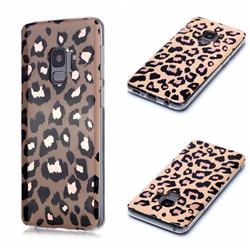 Leopard Galvanized Rose Gold Marble Phone Back Cover for Samsung Galaxy S9