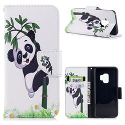 Bamboo Panda Leather Wallet Case for Samsung Galaxy S9