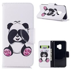 Lovely Panda Leather Wallet Case for Samsung Galaxy S9