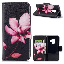 Lotus Flower Leather Wallet Case for Samsung Galaxy S9