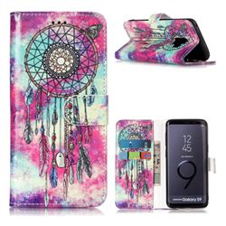Butterfly Chimes PU Leather Wallet Case for Samsung Galaxy S9