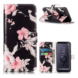 Azalea Flower PU Leather Wallet Case for Samsung Galaxy S9