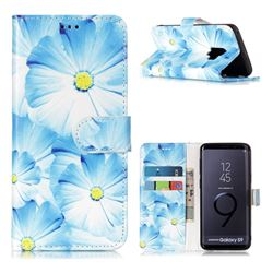 Orchid Flower PU Leather Wallet Case for Samsung Galaxy S9