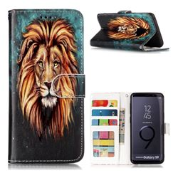 Ice Lion 3D Relief Oil PU Leather Wallet Case for Samsung Galaxy S9