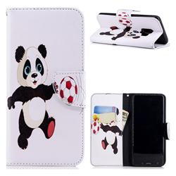 Football Panda Leather Wallet Case