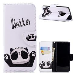 Hello Panda Leather Wallet Case
