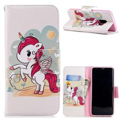 Cloud Star Unicorn Leather Wallet Case