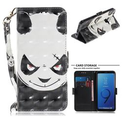 Angry Bear 3D Painted Leather Wallet Phone Case for Samsung Galaxy S9