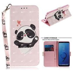 Heart Cat 3D Painted Leather Wallet Phone Case for Samsung Galaxy S9