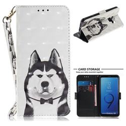 Husky Dog 3D Painted Leather Wallet Phone Case for Samsung Galaxy S9