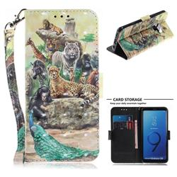 Beast Zoo 3D Painted Leather Wallet Phone Case for Samsung Galaxy S9