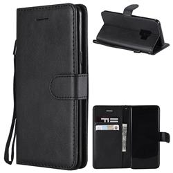 Retro Greek Classic Smooth PU Leather Wallet Phone Case for Samsung Galaxy S9 - Black