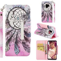 Angel Monternet Big Metal Buckle PU Leather Wallet Phone Case for Samsung Galaxy S9