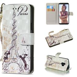Tower Couple 3D Painted Leather Wallet Phone Case for Samsung Galaxy S9