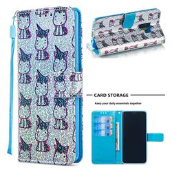 Little Unicorn Sequins Painted Leather Wallet Case for Samsung Galaxy S9