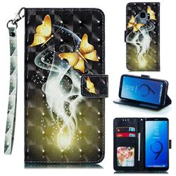 Dream Butterfly 3D Painted Leather Phone Wallet Case for Samsung Galaxy S9