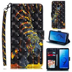 Tiger Totem 3D Painted Leather Phone Wallet Case for Samsung Galaxy S9