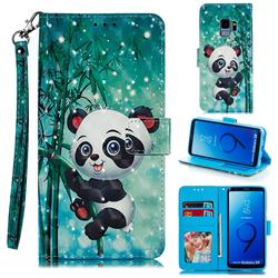 Cute Panda 3D Painted Leather Phone Wallet Case for Samsung Galaxy S9